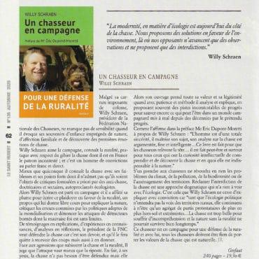 article W. Schraen Un chasseur en campagne